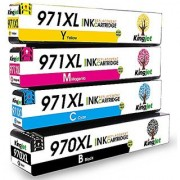 Kingjet 4 Pack 970XL 971XL High Yield Replacements for HP Officejet Pro X576dw X451dn X451dw X476dw X476dn X551dw Printe