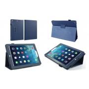 Apple iPad Mini 1 / 2 / 3 - Leather Book Cover Flip Hoes voor bescherming voor- en achterkant - Kleur Blauw