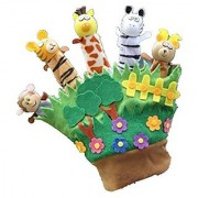 Baby Toy Toddler Zoo Play Gift Animal Story Telling Finger Puppet Hand Glove New