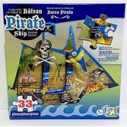 Shaped Puzzle ~ Pirate Ship (33 Pieces)