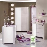 Sauthon meubles Chambre bébé trio opale blanc sans motif