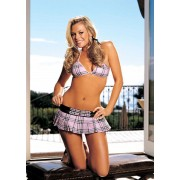Shirley Of Hollywood - Schoolgirl 3pc Mini Skirt Set