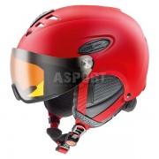 Kask narciarski, snowboardowy, wizjer S3 HLMT 300 VISOR czerwony Uvex