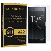 Marshland® Sony Xperia XZ 3D Full Curve Tempered Glass (Transparent) High Quality Premium Edge to Edge Perfect Fit Crystal Clear 100% Original Anti Shatter Bubble-free Oleo phobic Coating Perfect Adhesion 9H Hardness 0.33mm Thickness For Sony Xperia XZ Te