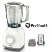 Блендeр, Philips Daily Collection ProBlend 4 400W, 1.5L, Бял (HR2102/00)