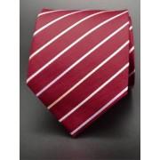 Piros, színes csíkos nyakkendő