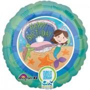 18 Inch Mermaid Birthday - QR Code Balloon
