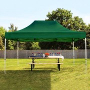 tendapro.it 3x4,5 m Gazebo Pieghevole, PREMIUM, verde scuro