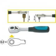 HAZET Carraca reversible para puntas de destornillador (Bits) 2264 . Hexágono hueco 6,3 (1/4 pulgadas)