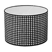 Taftan Suspension Gros carreaux noir (35 cm de diamètre) - noir