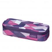 Necessaire Be.Bag Cube dimensiune 22,5x9,5x5cm, motiv Purple Checked