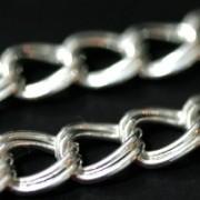 Corrente de Prata 925 2 Elos 50cm / 1cm