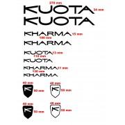 kit adesivi Kuota Kharma bicicletta 12 pezzi