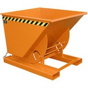 Billenthető tartály, üríthető konténer 0,5 - 0,75 és 1m3 1000 kg teherbírás. Targonca adapter - a targonca villára húzható!