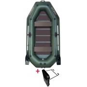 Čln Kolibri K-280 TP zelený, pevná podlaha + držiak