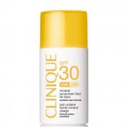 Clinique Protezione Solare Mineral Sunscreen Fluid For Face Spf 30 - Fluido Protettivo Minerale Per Pelli Sensibili Viso, 30 Ml