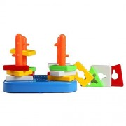 BIG TOOTH Educational Kids Toys Sorter Stacker Color Piece Column Puzzle Stacking Early Learning Colors Shapes for Children Christmas Gifts