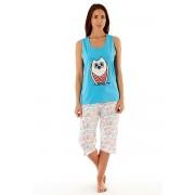 Owl Blue - női pamut pizsama