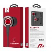 Devia T1 Acorn - слушалки с микрофон и управление на звука за мобилни устройства (червен)