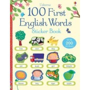100 First English Words Sticker Book by Felicity Brooks