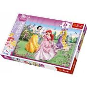 Trefl - 14135 - Maxi Puzzle - Disney Princess - À la Fontaine - 24 Pièces