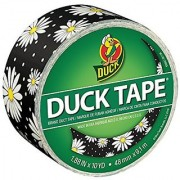Duck Brand 284565 Single Roll Printed Duct Tape 1.88 x 10 yd Crazy Daisy