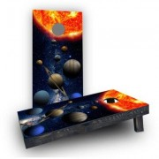 Custom Cornhole Boards Solar System Light Weight Cornhole Game Set CCB133-AW / CCB133-C Bag Fill: Whole Kernel Corn