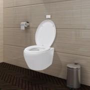 vidaXL Vas toaletă cu mecanism silențios și rezervor, Alb