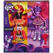 My Little Pony Equestria Girls Sunset Shimmer si Twilight Sparkle