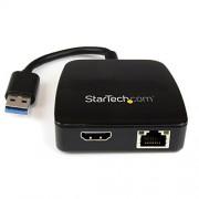 Startech.Com Mini Stazione Docking USB 3.0 a HDMI e Ethernet Gigabit, Nero