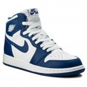 Pantofi NIKE - Air Jordan 1 Retro High Og Bg 575441 127 White/Stormblue