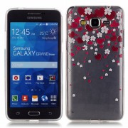 for Samsung Galaxy Grand Prime LTE G530 TPU Case HD Clear Screen Protector Shock Case Heart Flower