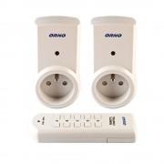 2 Prises télécommandées pour intérieur avec télécommande 5 canaux - ORNO