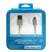 POWERBUG MFI LIGHTNING DATA CABLE WHITE