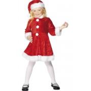 Déguisement MERE Noël satin ÉCO 110cm, 3-5 ans