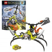 Lego Year 2015 Bionicle Series 10 Inch Long Figure Set #70794 - SKULL SCORPIO with Bull Skull Mask