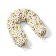 "Voedingskussenhoes ""Uil"", naturel-gekleurd l 150 × b 30 cm"