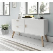items-france PASADENA - Buffet design blanc 120x40x70cm
