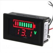 Programovateľný voltmeter s LED analyzátorom na meranie stavu akumulátorov