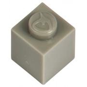 Q-Bricks 1 x 1-Stud Building Blocks flojo Paquete (1000 piezas, Gris Piedra)