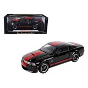 Shelby Collectibles SC294 2008 Ford Shelby Mustang GT Coupe Black Barrett Jackson Edition 1-18 Diecast Car Model