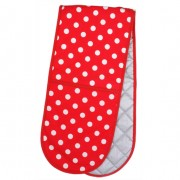 Red Polka Dot Double Oven Mitt by Annabel Trends