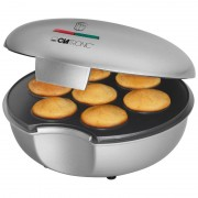 Clatronic MM 3496 - Máquina de hacer donuts o rosquillas, 900 W, color plateado