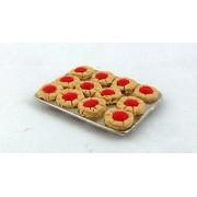 Miniatura Para Casa de Muñecas Panaderos Accesorio De Cocina Pastel Bandeja Para Hornear de Jam Pasteles