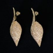 Earring Gold Plated Jewelry Semi Large Malu