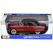 Maisto 1:18 Scale 1950 Ford Diecast Vehicle (Colors May Vary)