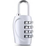 DOCOSS 4 Digit Small Bag Brass Locks Travel Luggage Resettable Combination Password Safety Lock(Grey)