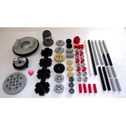 LEGO TECHNIC 60-Piece Gear Wheel, Axle and Stopper Set by LEGO