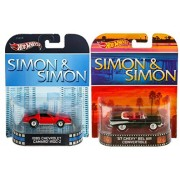 Maven Gifts: Simon & Simon Hot Wheels Retro Series 57 Chevy Bel Air Convertible With 85 Chevrolet Camaro Iroc Z Die Cast Vehicles