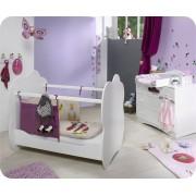 Blanco Mini dormitorio ALTEA Blanco Colchón incluido